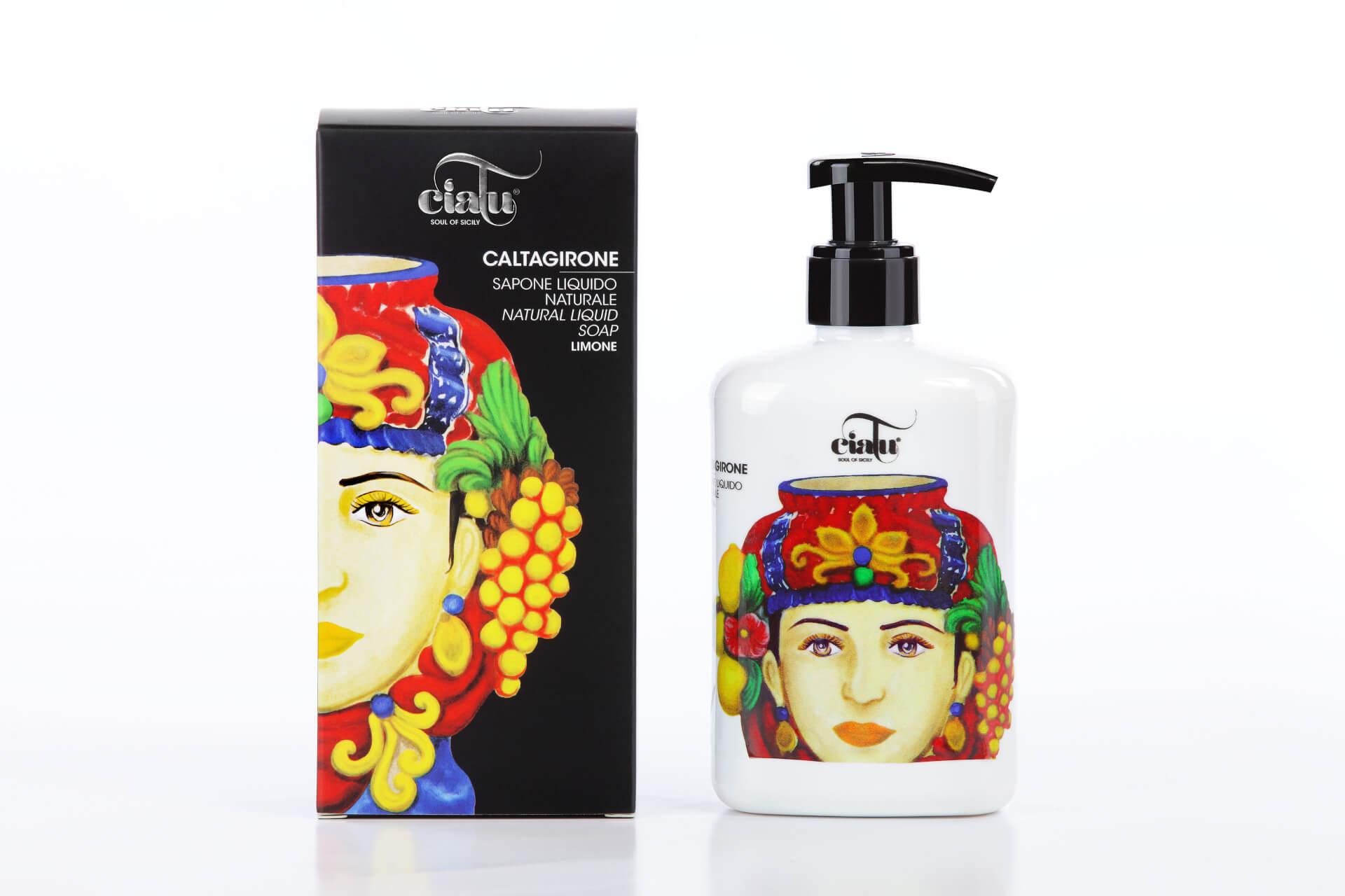 Ciatu | Caltagirone natural liquid soap lemon